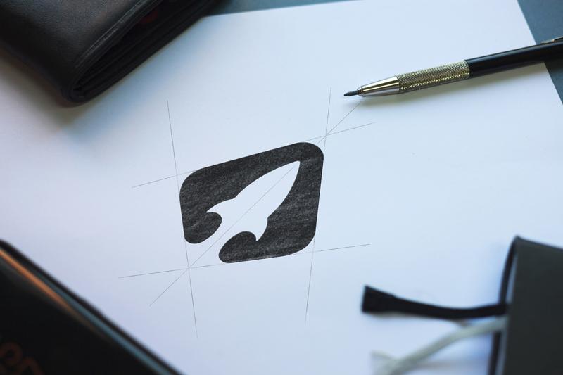 Rocket Logo Concept start up logo process rocket logo rocket negative space unused grid logo grid design logo