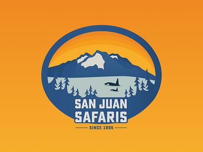 San Juan Safaris Logo Concept typography branding design vector illustration design logo branding
