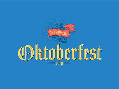 San Juan Brewery Oktoberfest design illustration typography poster design