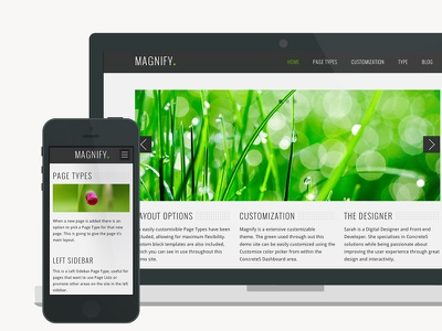 Magnify Shot 2 responsive user interface nature