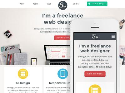 Sarah Evans Design Responsive portfolio responsive webdesign