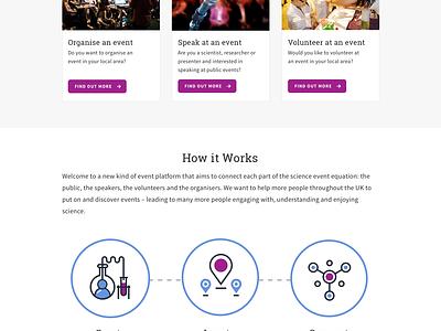 Science Live Web Design sketch webdesign website