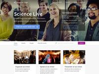 Science Live Web Design