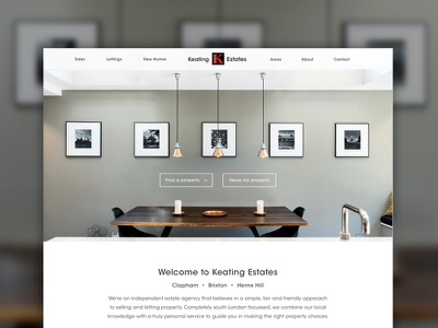 Keating Estates Web design ui design mobile webdesign website portfolio responsive