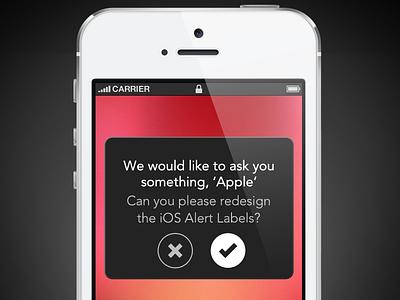 iOS Alert Labels Redesign ios alerts