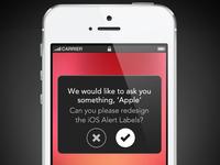 iOS Alert Labels Redesign