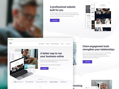 B12 Website Overhaul - Homepage web branding ux website design website ui graphic design layout design