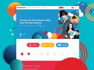 Dramafever App Webpage web concept redesign dramafever portfolio layout app page ux ui webpage