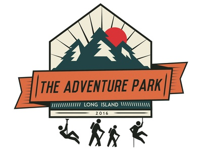 Adventure Park zipline trail hiking outdoors design graphic design long island adventure park illustration