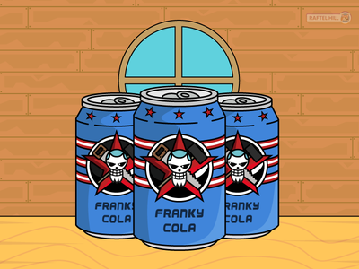 Franky's Cola ! kaido nami raftel hill one piece pirate pepsi coca american bottle can of soda soda vector oda design franky mugiwara luffy can cola onepiece