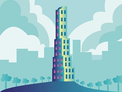 Babel Tower design illustrator babel tower tower road babel illustration