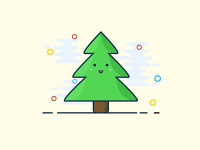 A nude Christmas tree