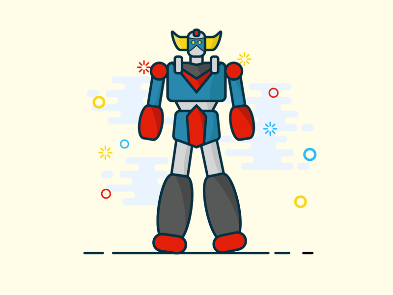 A robot for christmas ;) christmas gift christmas robot design vector illustrator illustration