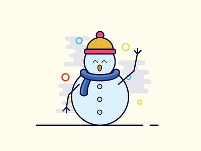 The snow-men holiday happiness happy happy holidays snowman christmas illustrator illustration