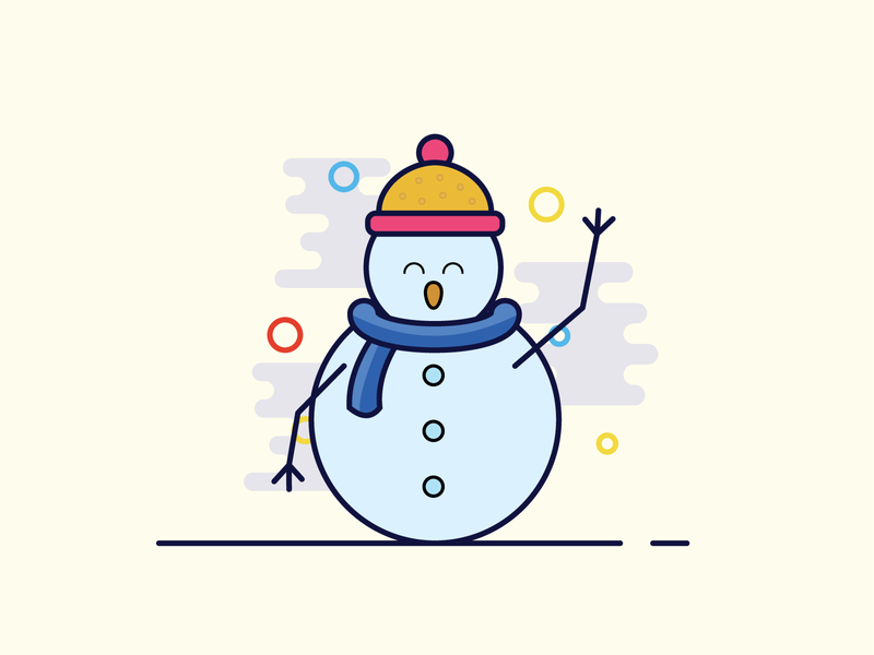 The snow-men holiday happiness happy happy holidays snowman christmas illustrator illustration