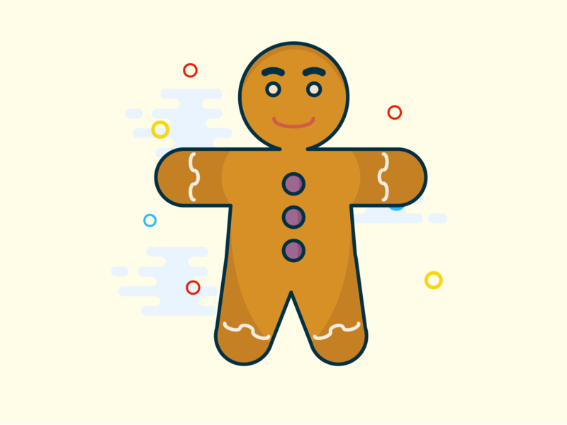 The Gingerbread Man design gingerbread gingerbread man holliday christmas new year vector cute illustration illustrator