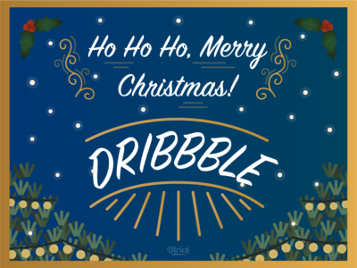 Merry christmas Dribble (a little late ?) late illustration art illustrations merry merrychristmas merry xmas christmas design cute illustrator illustration