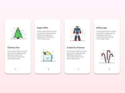 Christmas gift sugar barley robot coffee cup app flat vector coffee christmas tree christmas illustrator illustration