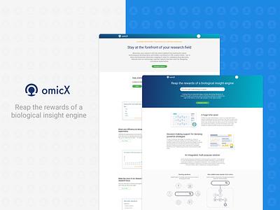 Omictools redesign Part 3 - Homepage desktop website web app icon typography ux ui branding illustrator illustration