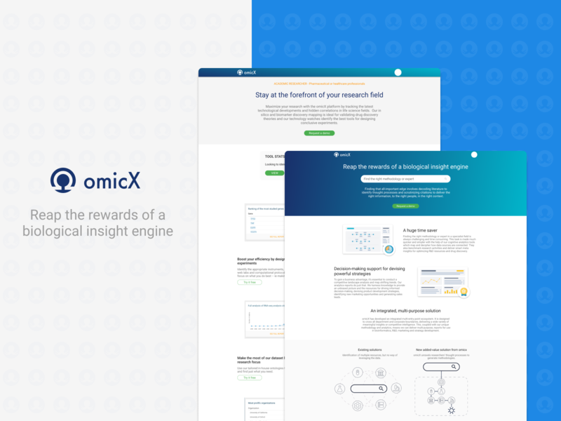 Omictools redesign Part 3 - Homepage desktop website web app icon typography ux ui branding illustrator illustration