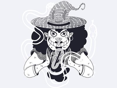 INKTOBER 2019 - DAY 1 love snake witchcraft inktober witch procreate digital illustration character design drawing artwork illustration