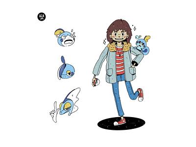 Poketrainer Commission #1 design lineart procreate digital illustration drawing character design artwork illustration commission