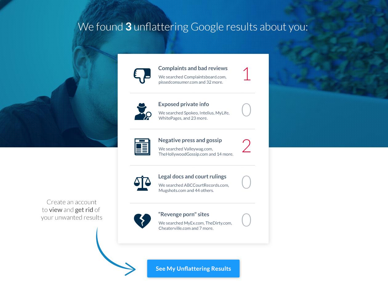 Google Scanner by Pete Kistler (BrandYourself com) on Dribbble