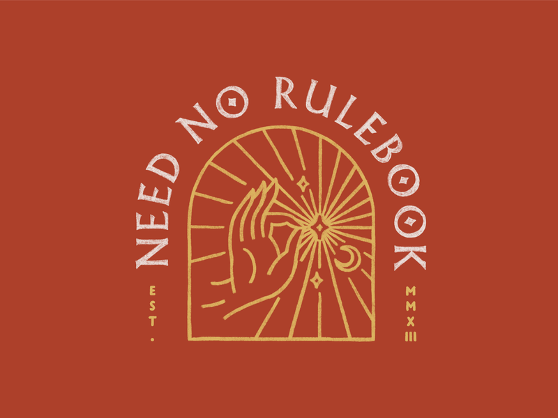 Need No Rulebook sticker tshirt logo graphicdesign illustration
