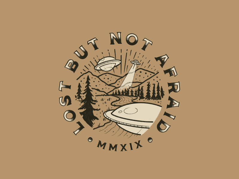 Lost But Not Afraid merchandise tshirt drawing logo illustration