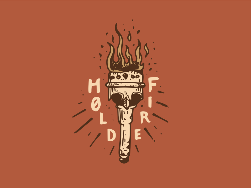 Hold Fire typography craft design tshirt merchandise logo drawing illustration