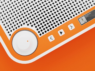 tone X SOUNDBOX radio stereo hard surface minimal retro product 3d blender identity brand