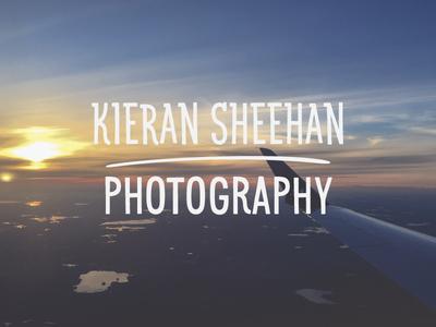 Kieran Sheehan Photography - Logo Design travel minimal promotion branding graphic design photography logo