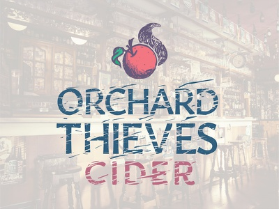 Orchard Thieves Cider - Logo Concept tail fox vector drink alcohol identity brand graphic design thieves orchard logo