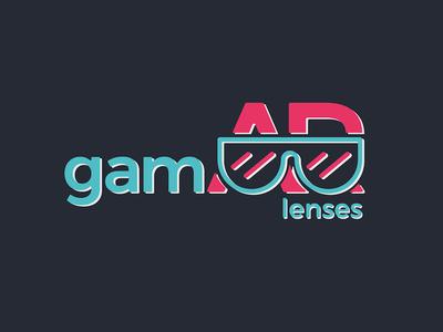 GamAR lenses vr identity gaming glasses lenses vector graphic design game