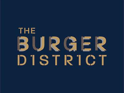 Burger District Logo typography design brand concept logo district burger