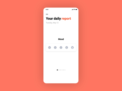 Health daily report animation onboarding ui concept animation design trackers healthcare report daily onboarding after effect principle animation health branding ui app design