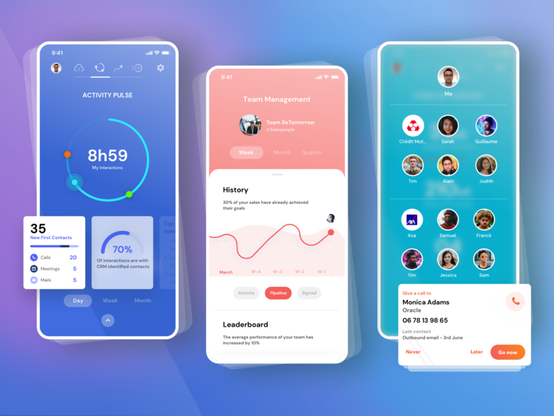 EverReady App 📱 deal sales ai crm statistics dashboard ui ecommerce dashboard ready ever ready everready ux mobile branding ui app design