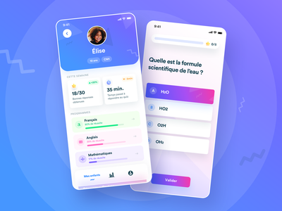 Quiz App 👑 family score child kid colorful question application branding app design ui uidesign app design ux mobile concept quizz quiz app quiz