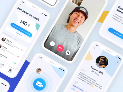 Vtips : Help Video call App video call video app faces facetime illustration animation uidesign design app design interface uxui ux need diy help call mobile ui app video