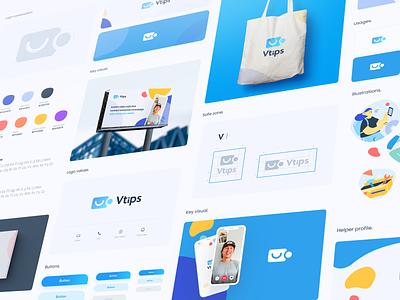 Vtips Brand book brandbook design art logo vector typography mobile ui app brand design app branding concept graphic identity branding and identity vtips tips design branding design branding