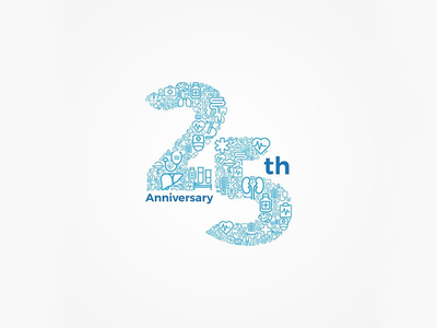 25years Anniversary graphics design design branding logo icon