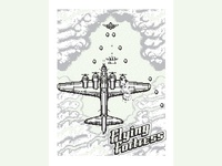 Flying Fortress Glow in The Dark Screen Print