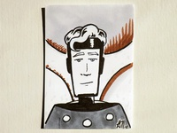Flash Gordon Sketch Card