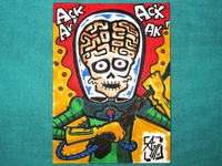 Mars Attacks! Sketch Card