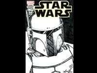 Prototype Boba Fett Star Wars Sketch Cover