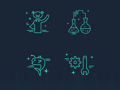dash beyond- website icons set illustration graphic space ui icons