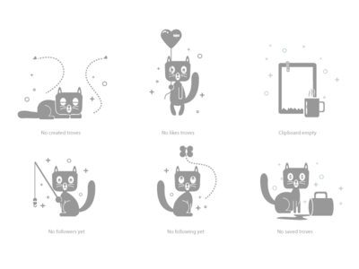 Empty State Icons empty state icon design ui character design graphic character chitrakathi illustration