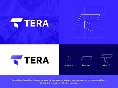 Tera Logo exploration exploration software company branding design branding logotype logo creative creative logo sign mark symbol monogram gradient workflow business saas financial finances software tera