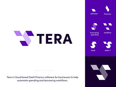 Tera Logo Exploration automating creative logo icon mark symbol abstract monogram workflow software money finance saas technology brand identity branding logo exploration tera