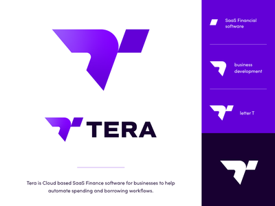 Tera Logo Exploration letter monogram sign mark symbol icon branding brand idendity money business computers it tech technologty software financial saas exploration logo tera